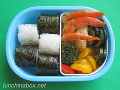 Rinsed Thai curry bento lunch for preschooler