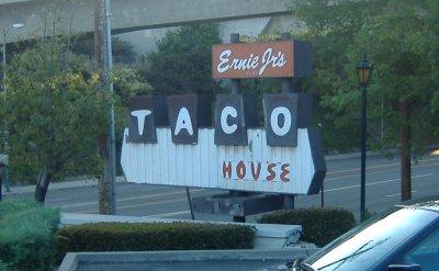 Ernie Jr.'s Taco House Signage