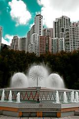 Day (Mediatejack) Tags: building water skyline hongkong foutain skyhongkongskylinebuildingwaterfoutain