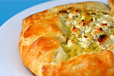 leek and goat cheese galette
