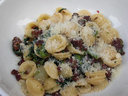 Orecchiette with Broccli Rabe and Sausage