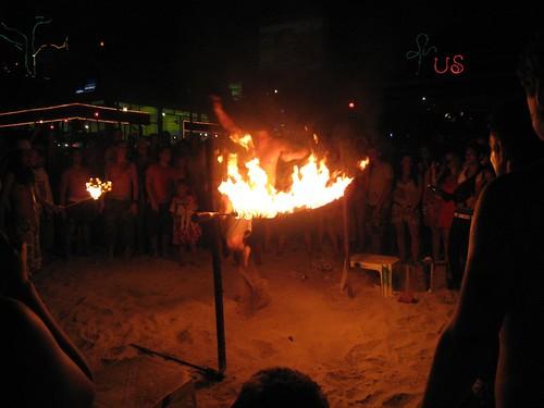Fire high jump at Cactus Bar