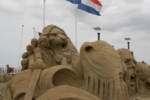 Narnia sand sculpture