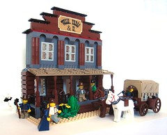 Wells, Fargo & Co. Overland Express and Assay Office (.) Tags: wagon lego western wellsfargo wildwest frontier goldrush conestoga boomtown manifestdestiny