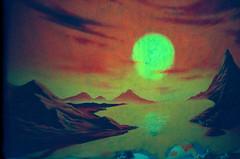 Never never land (almogaver) Tags: red sun streetart art film sol yellow analog landscape graffiti lomo lca xpro grafitti crossprocess lomolca vermell catalunya groc analogic ripoll almogaver procéscreuat davidroca
