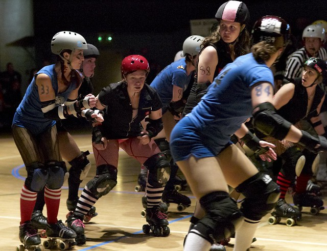 The life of a roller girl is always intense.