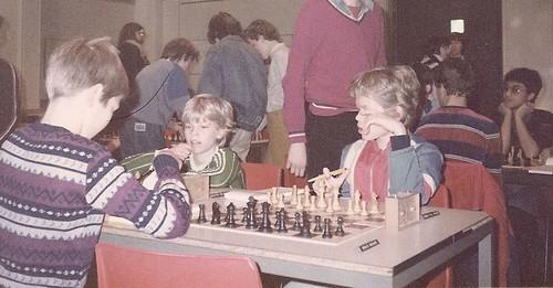 Schaakgrootmeesters bij het NK t/m 13 jaar in Nijmegen.
