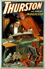 thurston the great magician (vvitch) Tags: mystery vintage poster magic posters mysterious thurston magician oldtime illusionist littlereddevils
