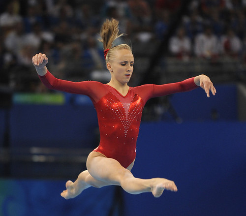 Nastia Liukin in the artistic gymnastics