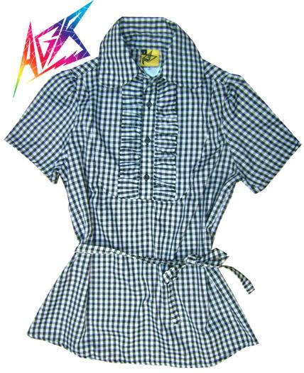camisa escocesa jabot
