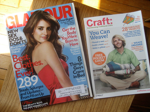 Sept magazines: Glamour and Craft