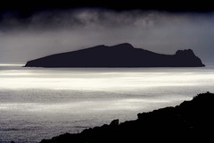 An Fear Marbh (The Dead Man) (An Gobn Saor) Tags: ireland sleeping sea bw man reflection silhouette giant dead island blackwhite overcast kerry blaskets soe blasket sleepinggiant clogherhead clogher thekingdom cokerry blasketislands inishtooskert thedeadman bej inistuaisceart anfearmarbh theunforgettablepictures platinumheartaward fearmarbh angobnsaor gobnsaor