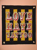 lovehate 002 wall hanging by