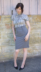 Secretary Look (strawberrykoi) Tags: old vintage ebay dress thrift