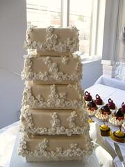 5 Tier Weding Cake (Rene S. Suen) Tags: seattle wedding cake dessert lemon sweet chocolate treats raspberry treat decor meringue mousse bakerynouveau august2008 henrylornaswedding williamleaman