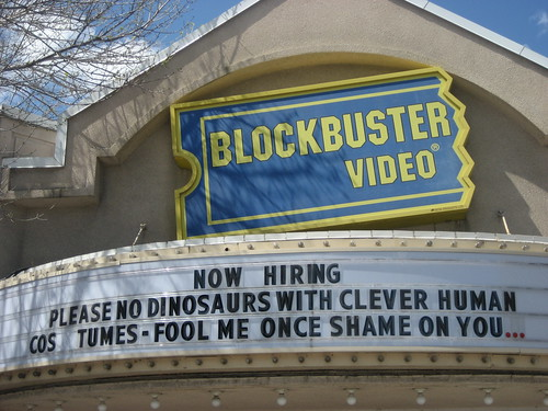 Now Hiring Please no dinosaurs with clever human costumes- fool me once, shame on you...