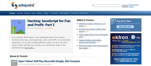 SitePoint screenshot