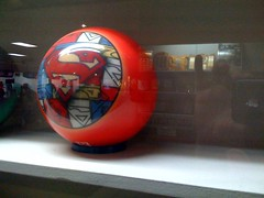 superman bowling ball