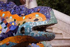 Dragon (Dmitriy Moiseyev) Tags: barcelona colors canon spain dragon mosaic catalonia espana gaudi catalunya 70300 parkgüell 5photosaday digifoto 40d