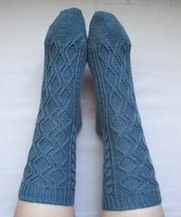 Twisted Hourglass Socks, Tops
