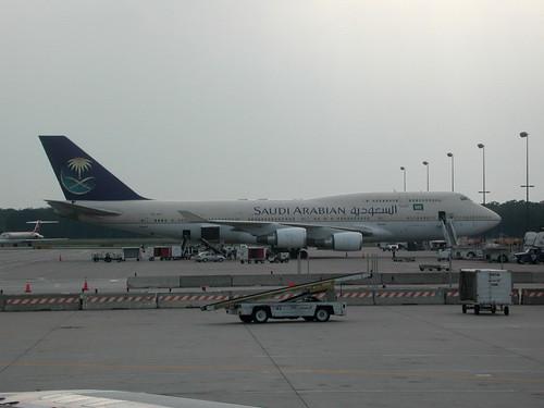 Saudi Airplane at Dulles airport