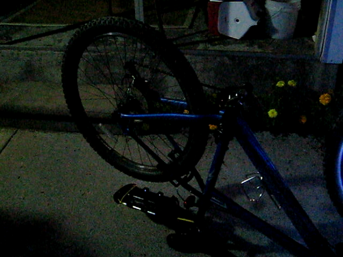 Proof of concept: LED lights in the bike wheel