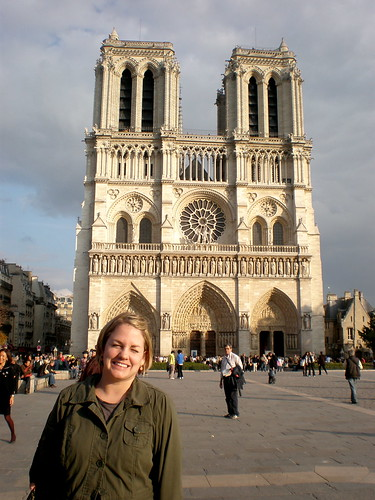 Finn at Notre Dame Cathedral