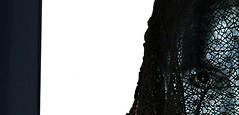 maschera o confessione? (a-lis-e) Tags: blue portrait white mist selfportrait eye nikon neon mask ombra sguardo bianco velo maschera backdoor confession elisabetta invisibile blueintheface segreto assenza rougir confessione privation camoflauges