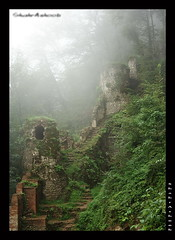 RoudKhaan Castle (Shahrashoob) Tags: tree castle wall forest canon iran fort persia pale jungle canon350d  gilan rasht             fouman fall2008 shahrashoob   fawman vosplusbellesphotos   upcoming:event=1174787 foumanat 1387 roudkhaancastle mirzakouchakkhaan  heydaralatvillage