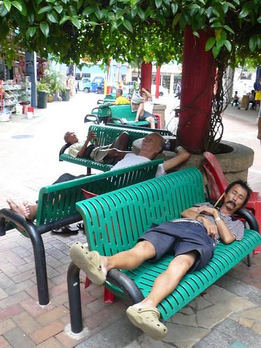 blog voyage travel singapour chinatown banc dormir
