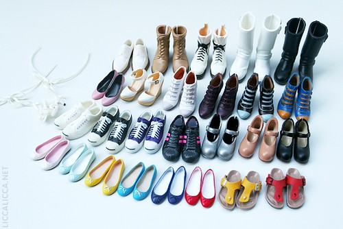 My Momoko doll shoe collection (27 pairs)