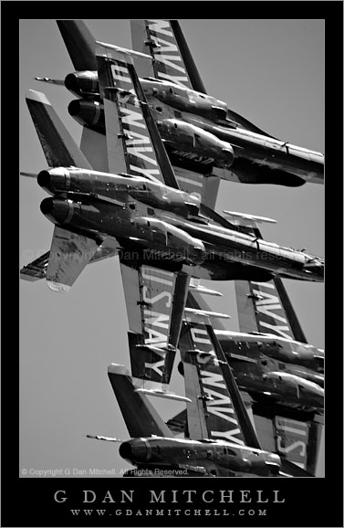 Blue Angels in Black and White