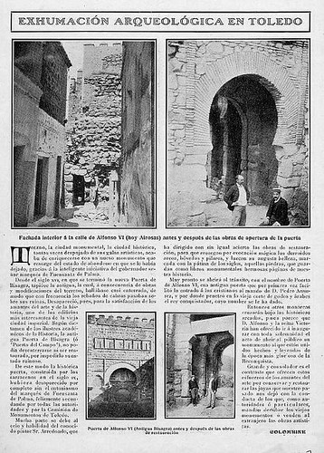 Crónica de la restauración de la Puerta vieja de Bisagra o de Alfonso VI (Toledo). 1907