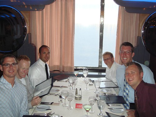 Formal dinner at Wing Song aboard Carnival Ecstasy