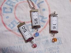 New Pendants! (back) (HA! Designs - Artbyheather) Tags: wood art altered vintage fun necklace photos funky ephemera bead designs ha ruler pendant artbyheather