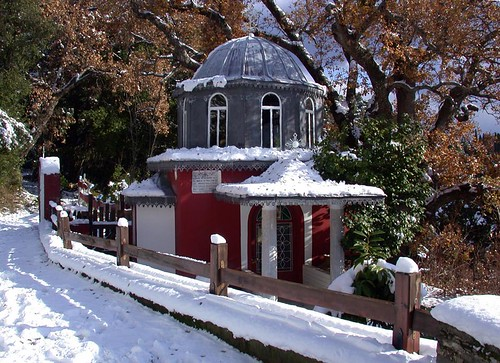 Chapel in snow