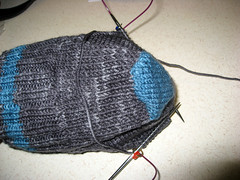 Socks for Hub - Into the Gusset