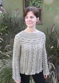 Cable Luxe Tunic pattern by Lion Brand Yarn