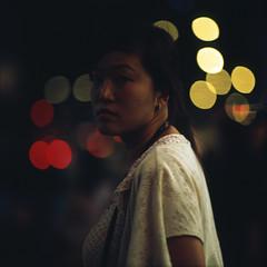 kit (memetic) Tags: street city 6x6 girl night hongkong lights bokeh mongkok provia arax60 kityip