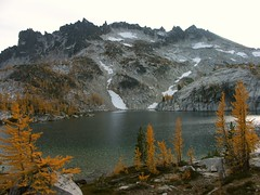 McClellan Peak above Leprechaun Lake