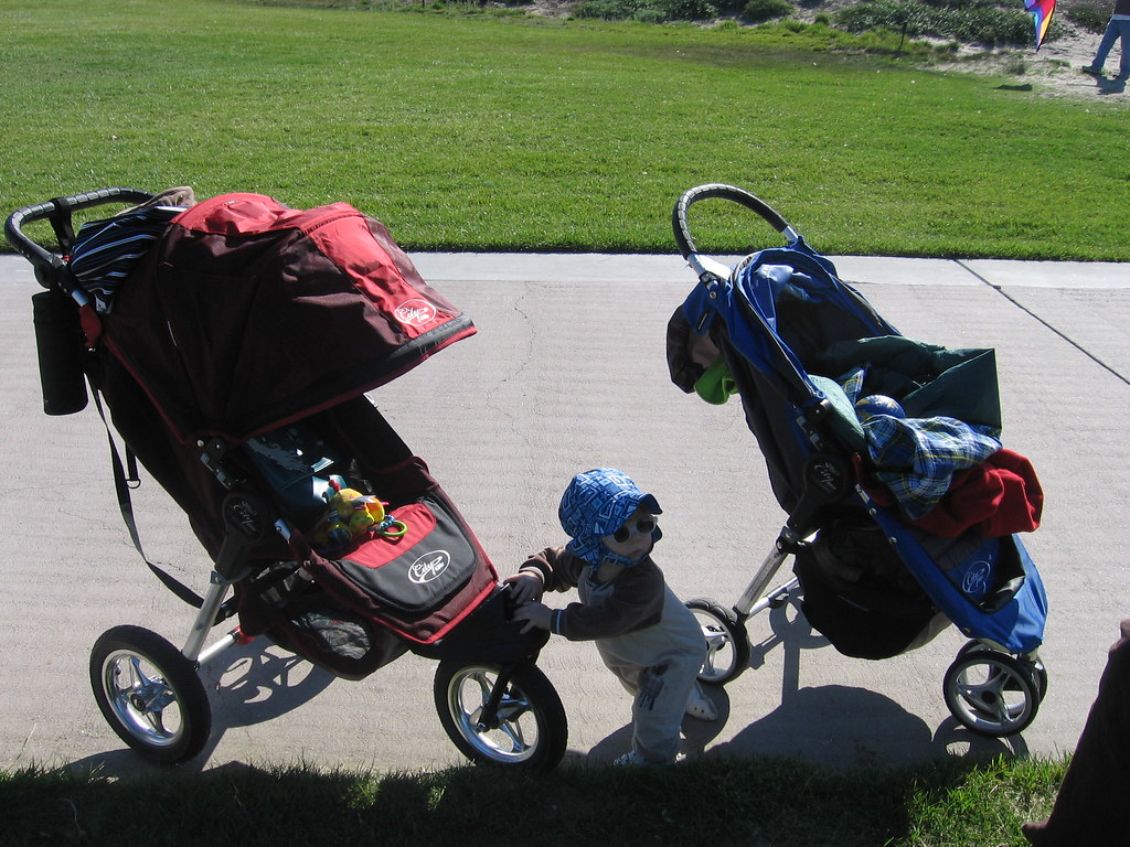 Between the Baby Jogger City series strollers