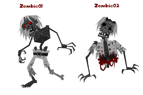 Zombie #1 & #2