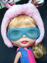 Future Lovers Goggles - 'Blue Bandito' (AddictedToPlastic) Tags: blue doll goggles lovers future blythe beatrix custom bandito addictedtoplastic