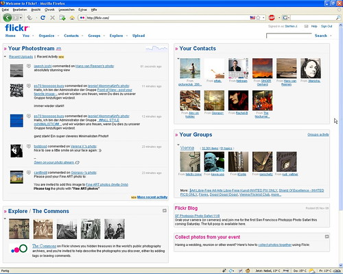 Greasemonkey Script: Configurable Flickr Homepage