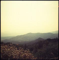 (moominsean) Tags: california sunset 120 yellow xpro crossprocess slide vista e6 220 motes homedeveloped sanjacintomountains kodakektachrome64 kowasix autaut expired051985 uniclorc41kit