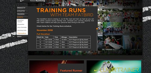 Nike Training Runs With Team FatBird