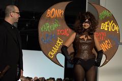 Batgirl (ohwaitnvm) Tags: show nyc fashion modeling designer chocolate explosion batgirl runway 55thstreet pier94