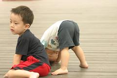 湯圍溝公園:Ryan和Min