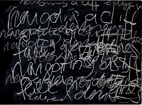 Blackboard drawing from Camelia Parker