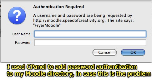CPanel used to add password authentication